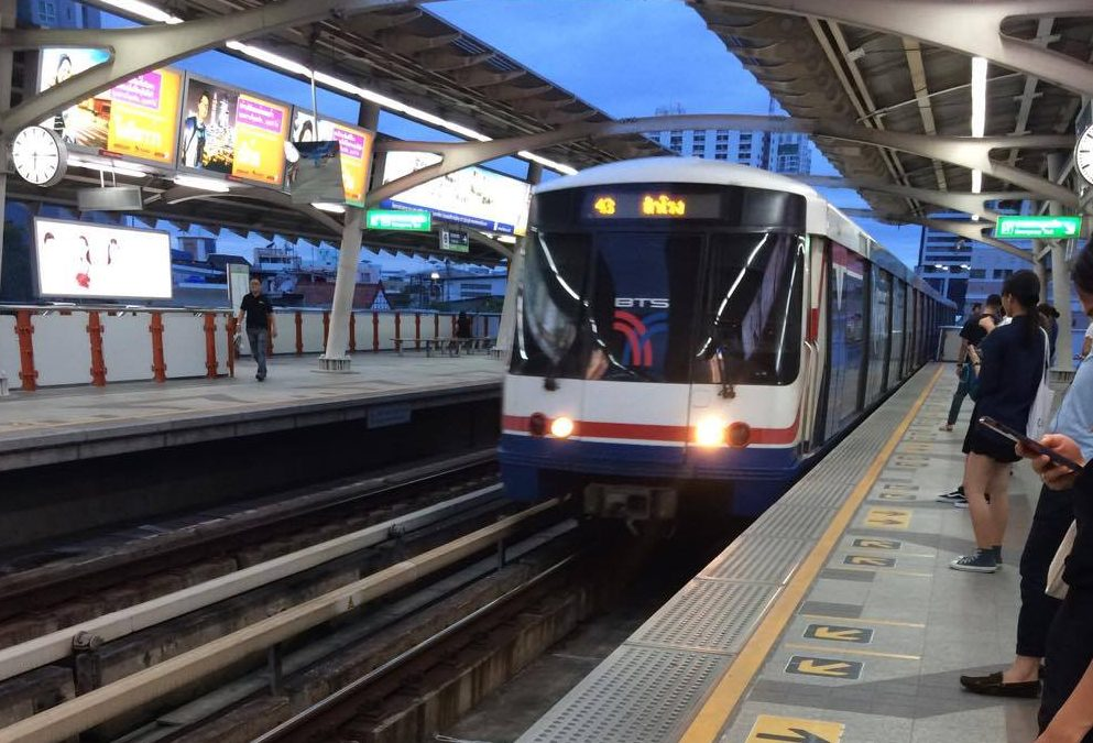 Using the Bangkok BTS Skytrain System